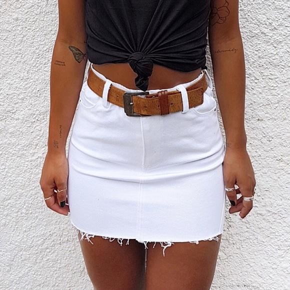 all things golden Dresses & Skirts - All things golden white denim skirt